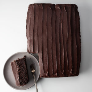 Quinoa Chocolate Cake Slab